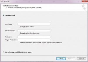 Procedure to configure MS Outlook 3