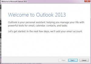 Procedure to configure MS Outlook